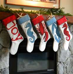 Beachy Christmas Stockings