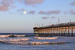 Evening Pier at Sunset Giclee Beach Print