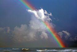 Rainbow at Sea Giclee