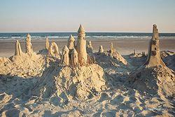 Sandcastles at Sunset Giclee