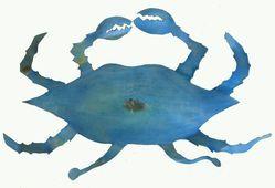 Uncooked Crab Metal Art