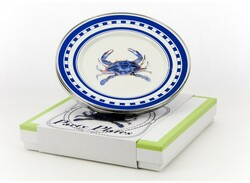 Blue Crab Party Plates Set of Four Gift Set