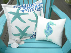 Hand Painted Indoor/Outdoor Pillows