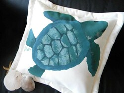 Green Sea Turtle Pillow