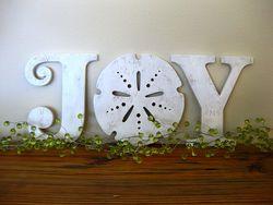Joy Wood Art Beach Sign