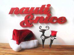 Nauti & Nice Beach Sign