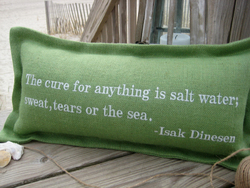The Cure For Anything Coastal Phrase Pillow