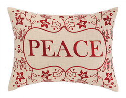 Peace Holiday Pillow