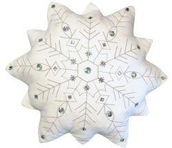 Indoor Cotton Snowflake Pillow