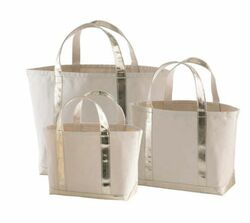 Glam Canvas Natural/Gold Tote - 3 Sizes<font color=cf2317> 20% Off</font>