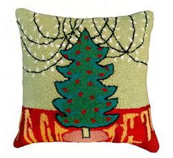 Tree with White Lights Pillow