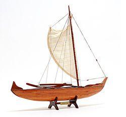 Hawaiian Canoe Replica Model