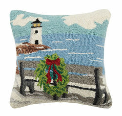 Bench By the Sea Hooked Pillow<font color=cf2317> Sold Out</font>