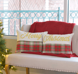 Merry Christmas Pillow - Set of 2