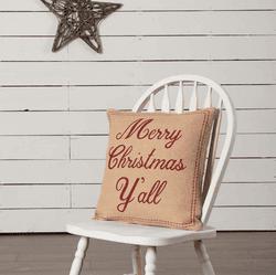 Merry Christmas Ya'll Pillow