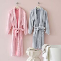 Frosted Fleece Shortie Robe - 5 Color Options<font color=cf2317> 20% Off</font>