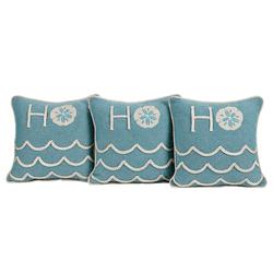 Ho Ho Ho Sand Dollar Pillows + Banner Option