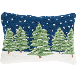 Outdoor Trees Hooked Pillow