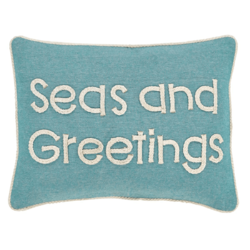 Seas And Greetings Pillow