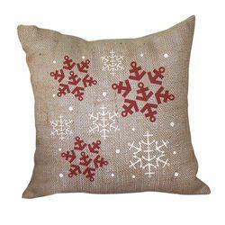 Anchor Snowflake Pillow <font color=a8bb35> Discontinued</font>