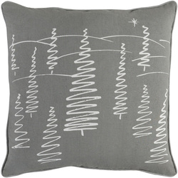 Christmas Trees Pillow Grey <font color=cf2317> Sold Out</font>