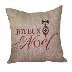 Joyeux Noel Pillow <font color=a8bb35> Discontinued</font>