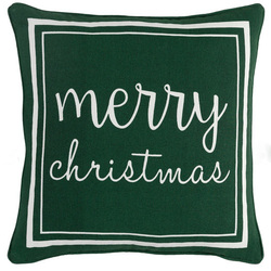 Merry Christmas Pillow Green<font color=cf2317> Sold Out</font>