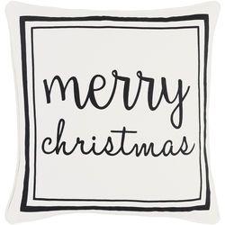 Merry Christmas Pillow White