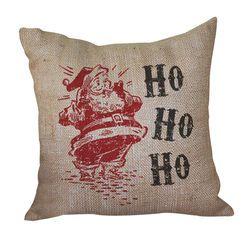 Vintage Santa Pillow <font color=a8bb35> Discontinued</font>
