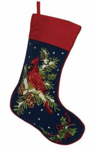 Cardinal Christmas Cuff Stocking<font color =a8bb35> Sold out</font>