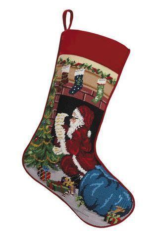 Santa Chimney Chirstmas Stocking<font color =a8bb35> Sold out</font>