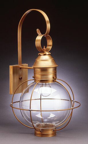 13 Round Onion Wall Light Fixture - Caged