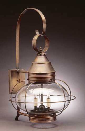 15 Onion Wall Light Fixture - Caged