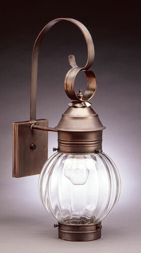 8 Optic Round Onion Wall Light Fixture  <font color=a8bb25> Sold Out</font>