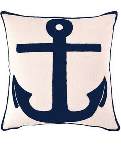 Admiral Ivory/Navy Indoor/Outdoor Pillow