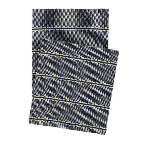 Archer Navy Woven Cotton Throw<font color=a8bb35> Backorder</font>