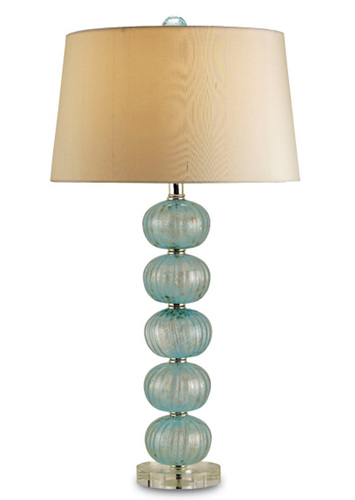 Astoria Blue Glass Table Lamp <font color=a8bb35> Sold Out</font>