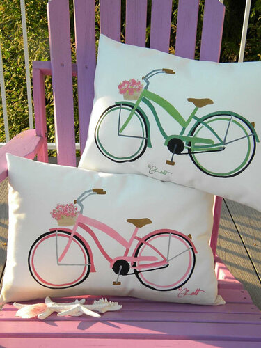 Beach Cruiser Outdoor Pillow