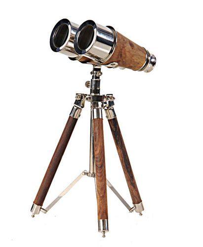 Brass Binoculars on Stand