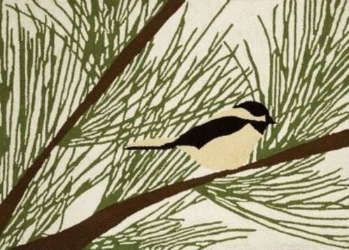 Chickadee Pine  Indoor Christmas Doormat