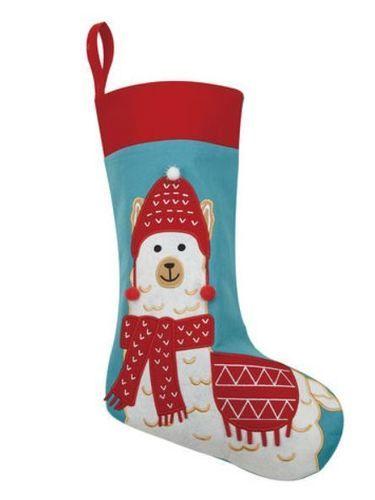 Christmas Llama Felt Stocking<font color =a8bb35> Sold out</font>