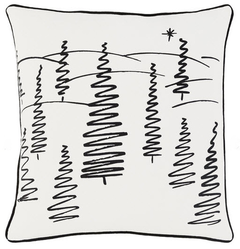 Christmas Trees Pillow White <font color=a8bb35> Sold Out</font>