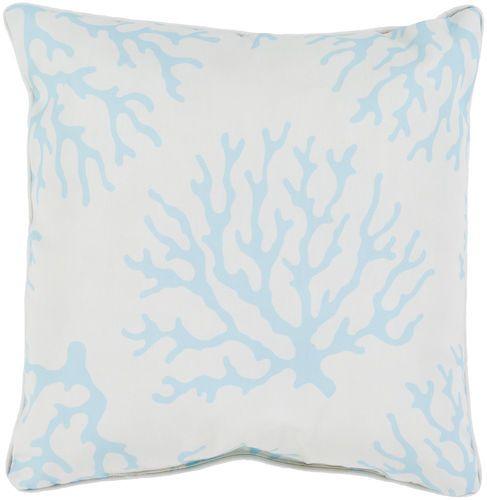 Coral Outdoor Pillow in Aqua
