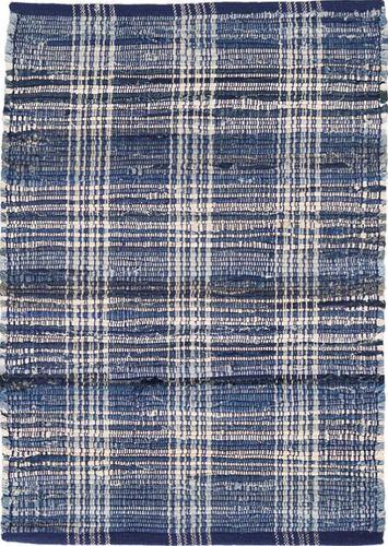 Denim Plaid Cotton Woven Rug
