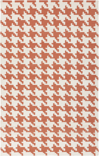 Frontier Paprika Houndstooth Flat Pile Rug