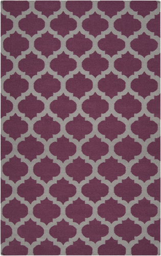 Frontier Raspberry Wine/Gray Classic Flat Pile Rug
