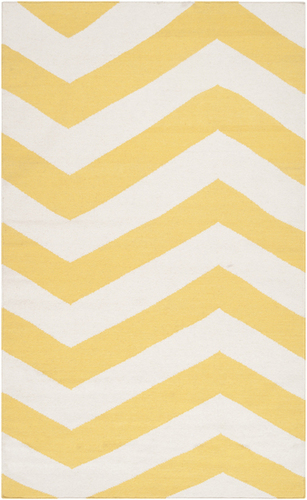 Frontier Sunshine Yellow/White Flat Pile Rug