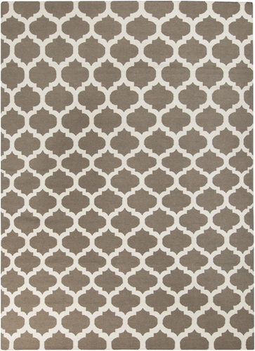 Frontier White/Taupe Classic Flat Pile Rug