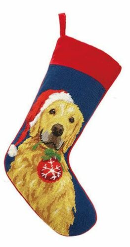 Golden Retriever With Ornament Christmas Stocking<font color =a8bb35> Sold out</font>