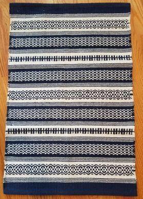 Gujan Blue Cotton Woven Rug 2x3